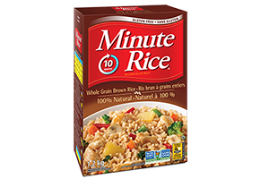 Riz brun à grains entiers Minute Rice®
