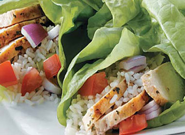 Chicken Souvlaki Lettuce Wraps