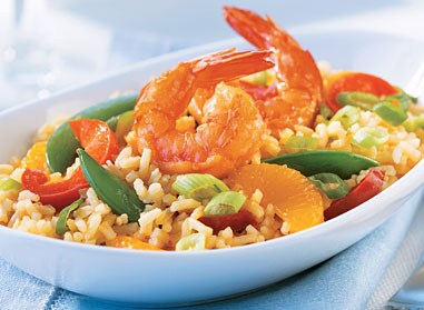 Easy Orange Shrimp Fried Rice
