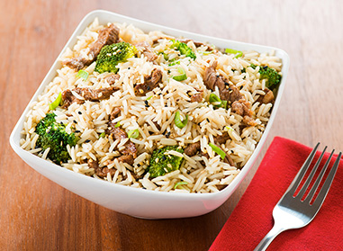 Ginger Beef and Broccoli Rice