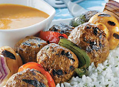 Glazed Meatball Kabobs