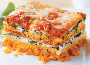 Layered Rice Lasagna