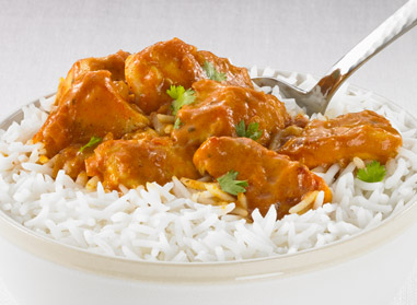 Quick Butter Chicken with Rice
