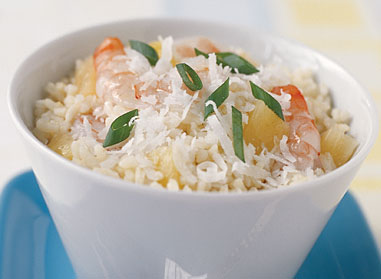 Pina Colada Shrimp and Rice