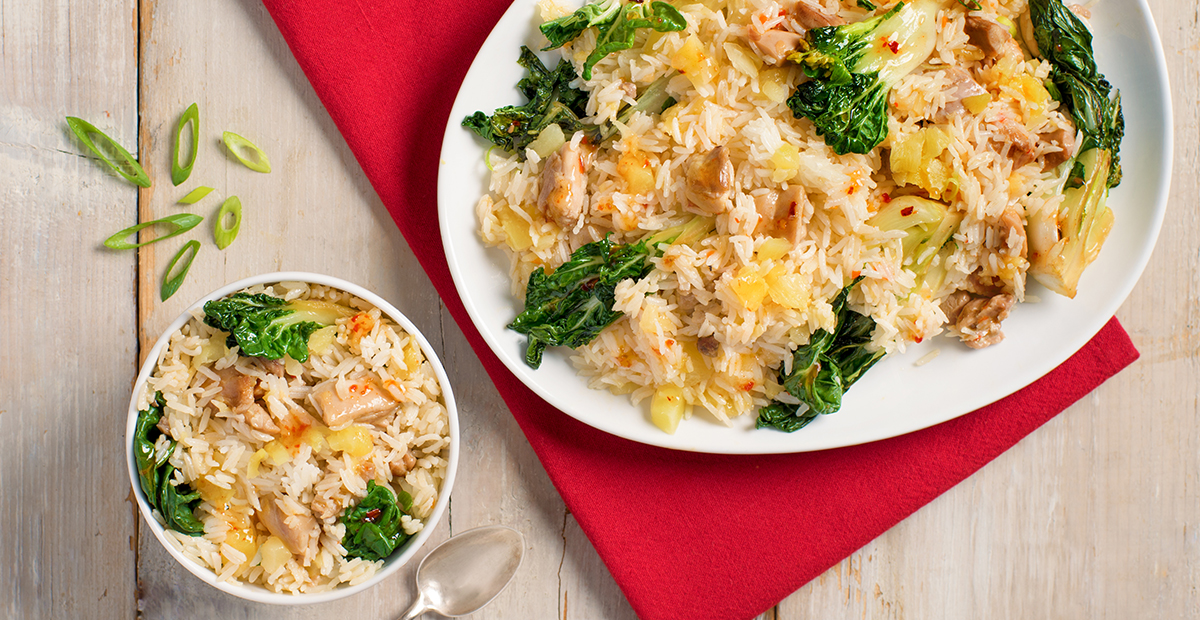 Thai Sweet-and-Sour Chicken Pineapple Rice